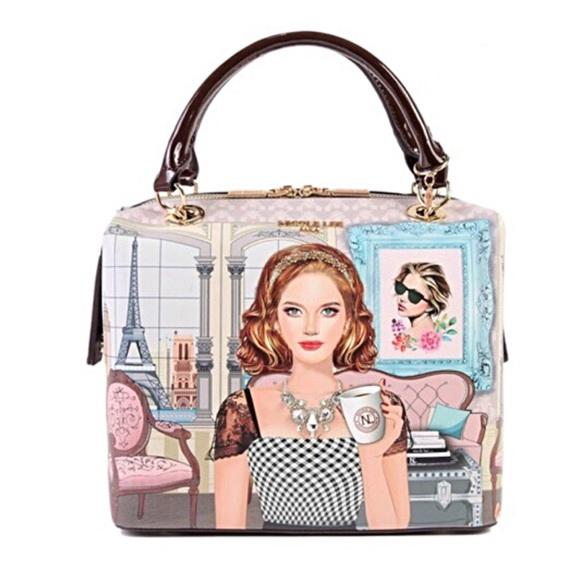 Nicole Lee Handbags - Ara Loves Coffee - Classic Chic Square Handbag